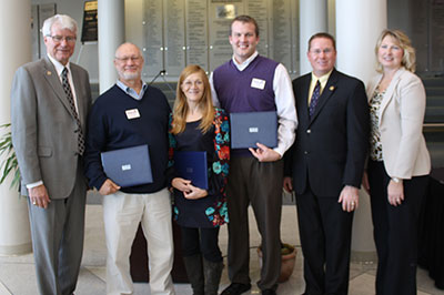 2012 Regents Staff Excellence Award recipients