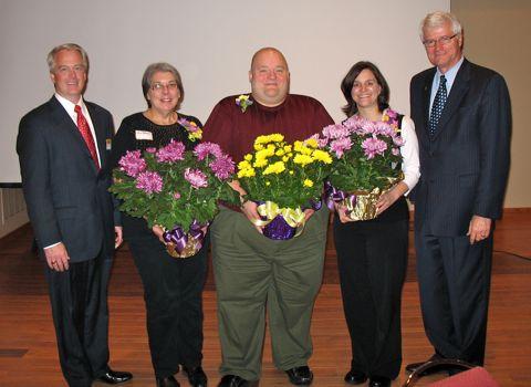 Jason Vetter, the regent award recipients, and President Allen